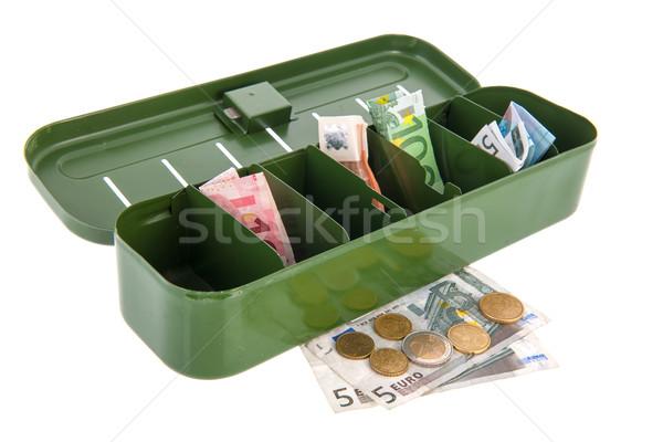 Argent réservation avenir papier vert Photo stock © ivonnewierink