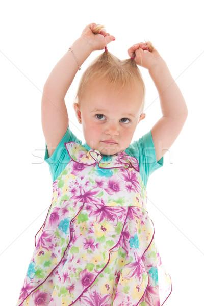 Toddler girl in summer dress Stock photo © ivonnewierink