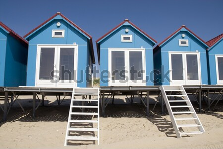 colored houses on the beach Stock photo © ivonnewierink