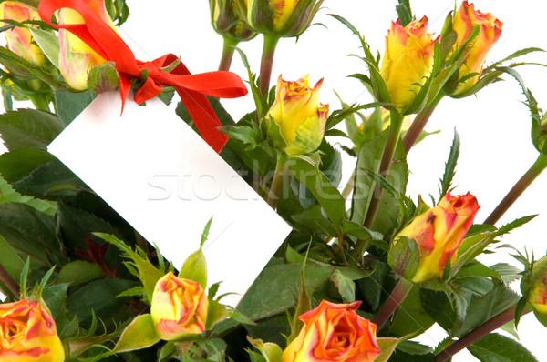 Card in flowers Stock photo © ivonnewierink