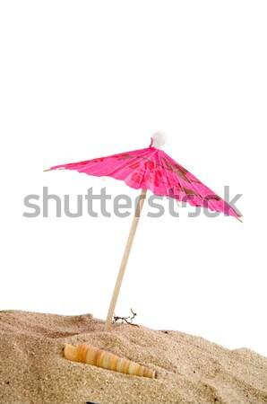 ビーチ ピンク 夏の花 旅行 砂 熱帯 ストックフォト © ivonnewierink