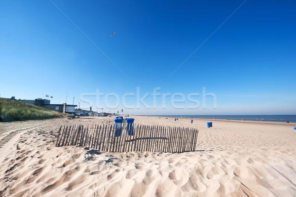 Spiaggia Holland costa panorama mare Foto d'archivio © ivonnewierink