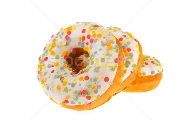 Sugary donuts with colorful glaze Stock photo © ivonnewierink