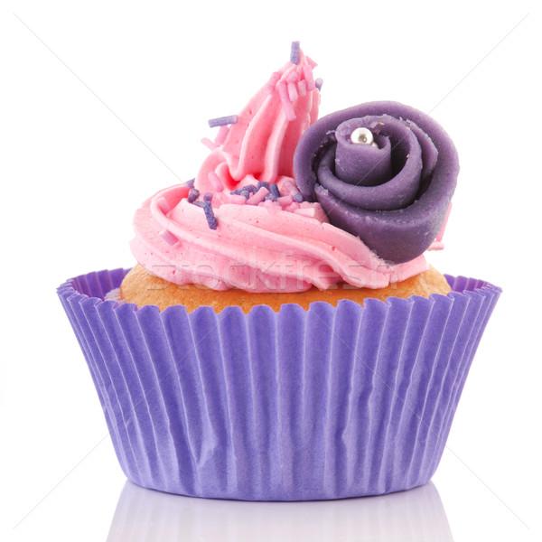 Pink cupcake with buttercream Stock photo © ivonnewierink