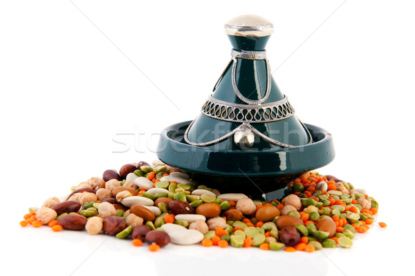 Moroccan tagine with legumes Stock photo © ivonnewierink