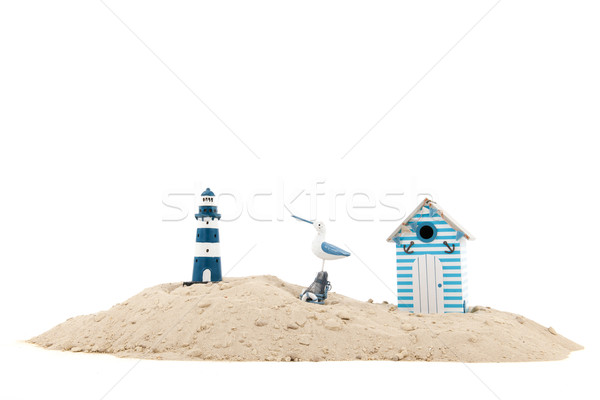 Beach with lighthouse Stock photo © ivonnewierink