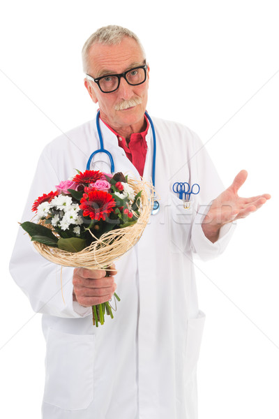 Médico flores aislado blanco Foto stock © ivonnewierink
