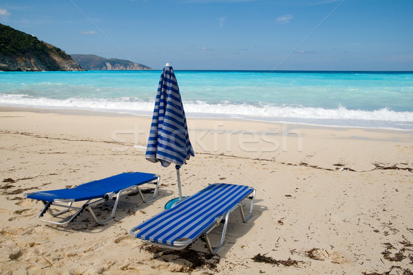 Empty beds at the beach Stock photo © ivonnewierink