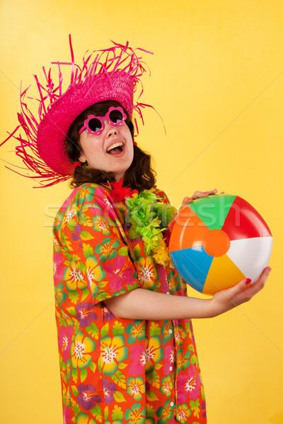 Young girl is having fun Stock photo © ivonnewierink