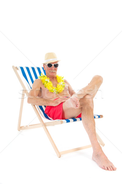Retired man on vacation Stock photo © ivonnewierink