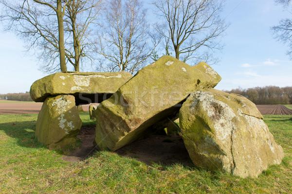 典型的な オランダ語 古い 墓 ストックフォト © ivonnewierink