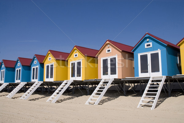 Beach-houses Stock photo © ivonnewierink