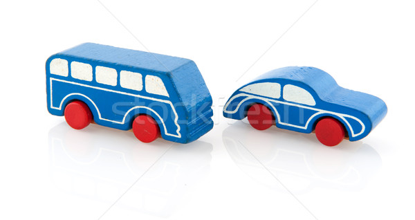 Wooden toy car and bus Stock photo © ivonnewierink