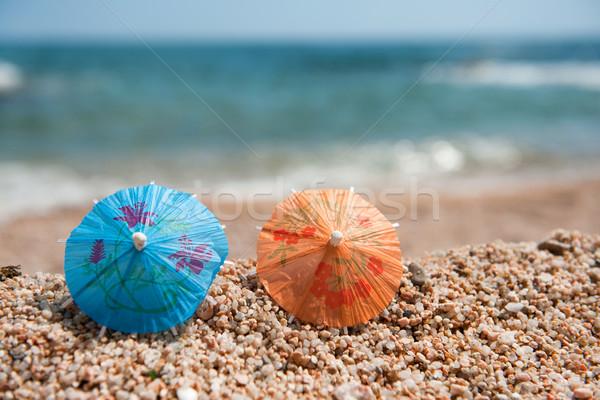 Stockfoto: Schaduw · strand · kleurrijk · chinese · papier · zonnige