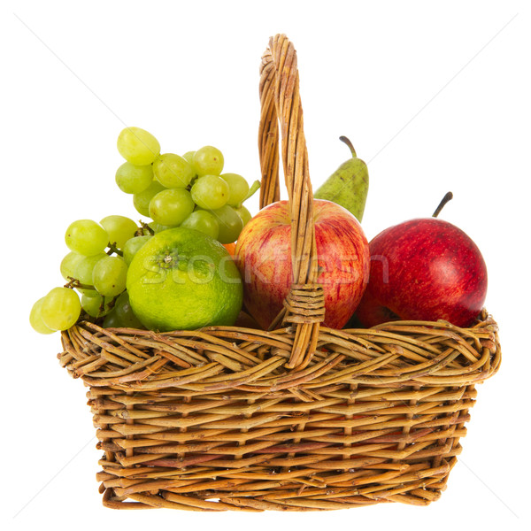 wicker basket fresh fruit Stock photo © ivonnewierink