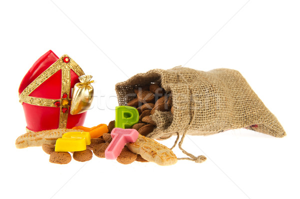 Táska holland cukorka hagyományos marcipán Stock fotó © ivonnewierink