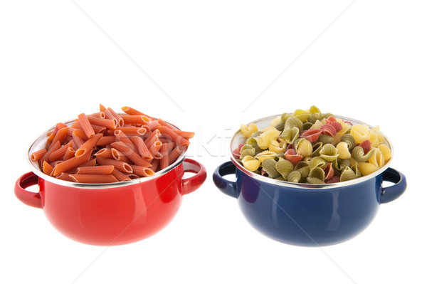 Stock photo: Wholemeal farfalle and macaroni
