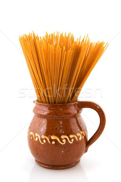 Whole meal spaghetti Stock photo © ivonnewierink