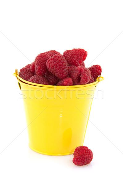 Bucket raspberries Stock photo © ivonnewierink
