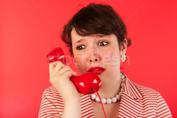 Femme triste coup de téléphone pleurer affaires visage Photo stock © ivonnewierink