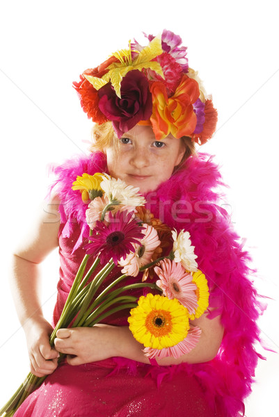 cheerful flower child Stock photo © ivonnewierink