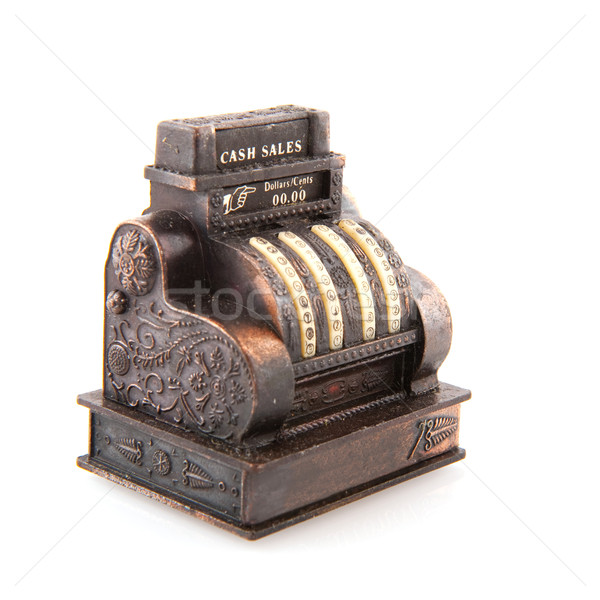 收款台 銅 老 孤立 白 錢 商業照片 © ivonnewierink