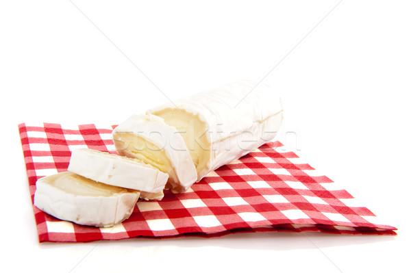 Geitenkaas vers Rood servet voedsel Stockfoto © ivonnewierink