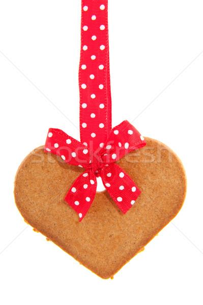 Baked gingerbread heart Stock photo © ivonnewierink