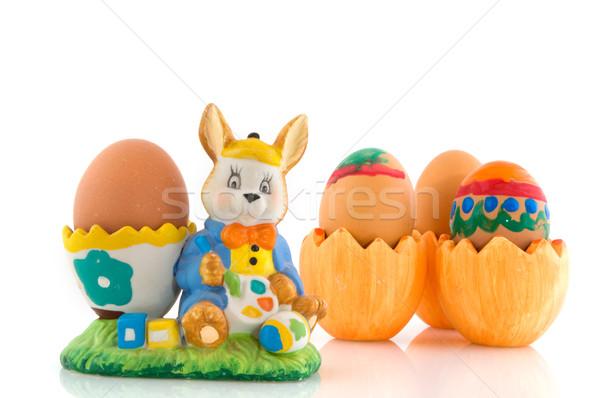 Jaj kubek Wielkanoc rzadki malarstwo Easter Eggs Zdjęcia stock © ivonnewierink
