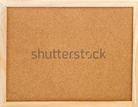 Pusty korka notatka pokładzie działalności Zdjęcia stock © ivonnewierink