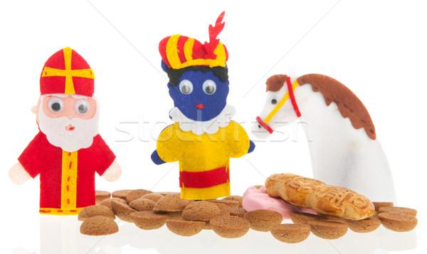 Handmade puppets and gingernuts for Dutch Sinterklaas Stock photo © ivonnewierink