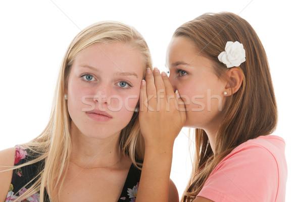 Haber genç kızlar dedikodu çocuklar Stok fotoğraf © ivonnewierink