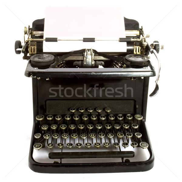 антикварная машинку бумаги технологий металл черный Сток-фото © ivonnewierink