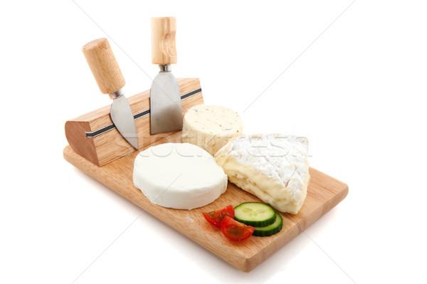 Kereste fransız peynir farklı parçalar ahşap Stok fotoğraf © ivonnewierink