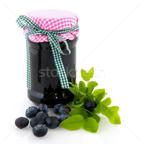 Blau Beeren Marmelade frisches Obst Obst Anlage Stock foto © ivonnewierink