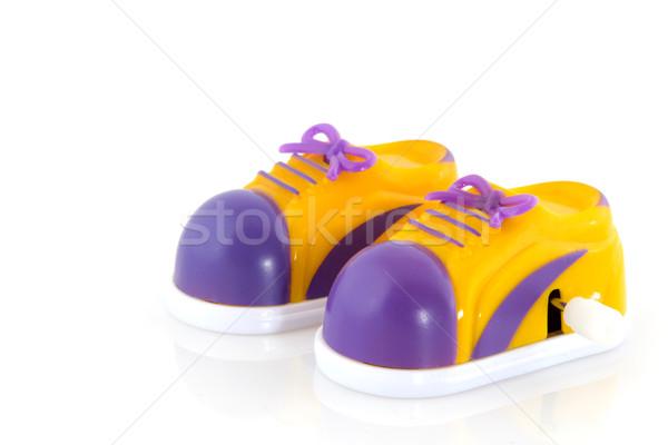 Zapatillas mecánico clave ejecutando caminando Foto stock © ivonnewierink