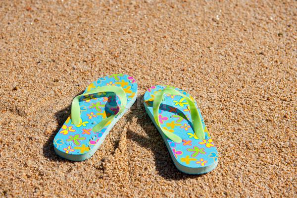 Flip flops at the beach Stock photo © ivonnewierink