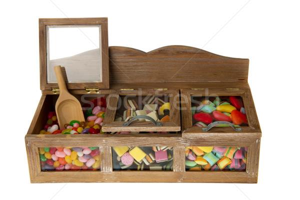 şeker bar ahşap şekerleme yalıtılmış Stok fotoğraf © ivonnewierink