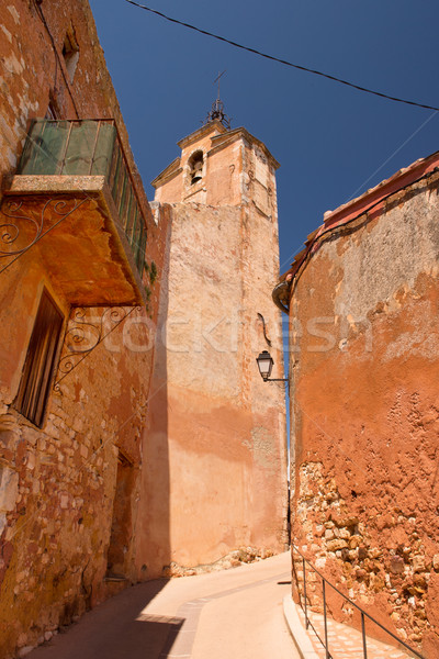 Saint Michael Church in Roussillon Stock photo © ivonnewierink