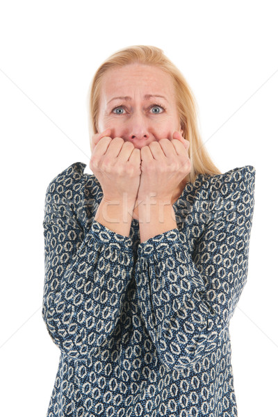 Woman of mature age with fear Stock photo © ivonnewierink
