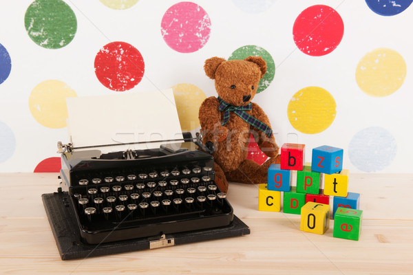 Type writer and vintage toys Stock photo © ivonnewierink