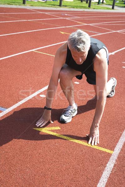 Başlatmak çalıştırmak adam spor çalışma başarı Stok fotoğraf © ivonnewierink