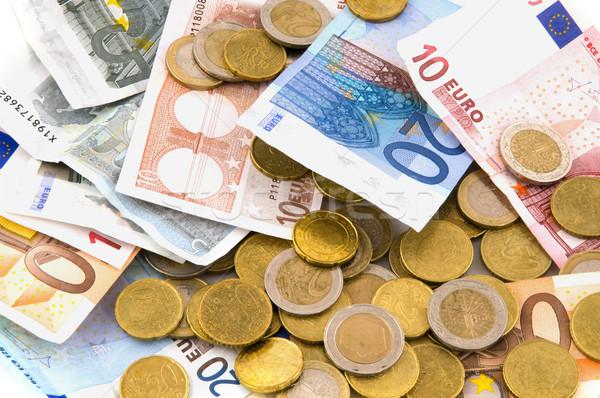 Takarékosság pénz sok eurók üzlet boldog Stock fotó © ivonnewierink