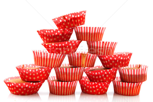 Many home made cup cakes Stock photo © ivonnewierink