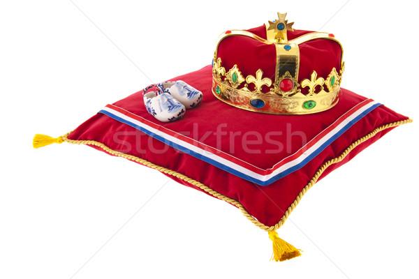 Golden crown on velvet pillow in Holland Stock photo © ivonnewierink