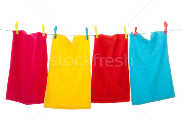 Clothes line with laundry Stock photo © ivonnewierink