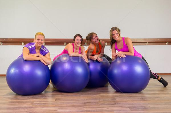 Girls at health club Stock photo © ivonnewierink