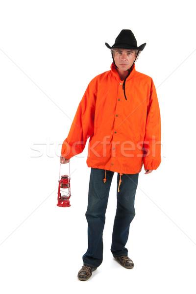 Slechte weer man lopen regen nacht Stockfoto © ivonnewierink