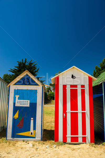 Kolorowy plaży francuski wyspa proste Francja Zdjęcia stock © ivonnewierink