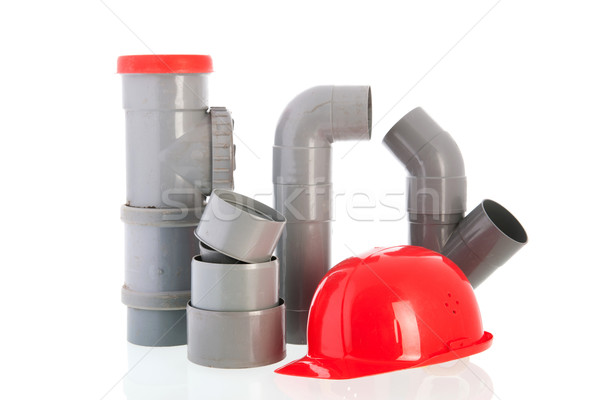 Stock photo: PVC tubes and pipes